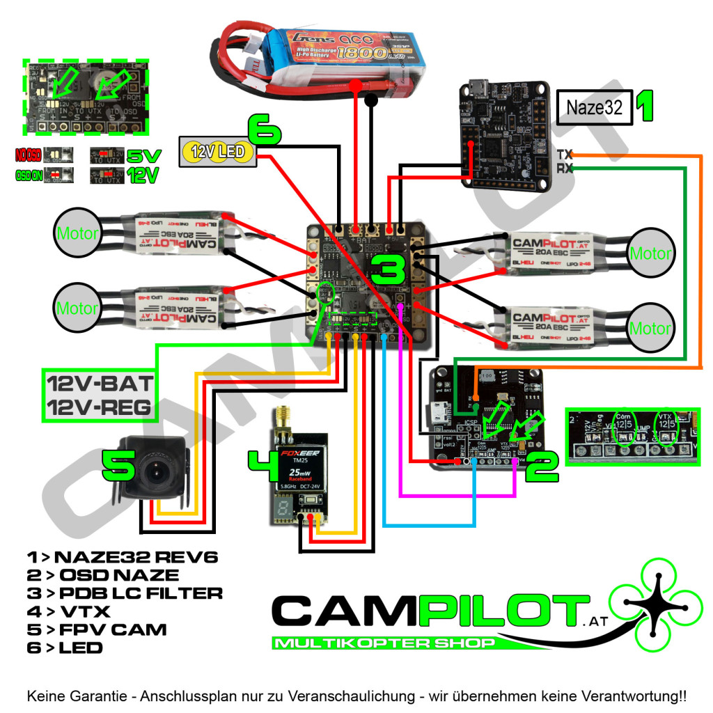 cc3d bec wiring diagram vector flight controller wiring